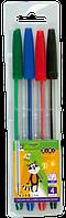Набор ручек шариковых ZiBi KIDS Line 0.7 мм, ассорти, 4 шт (ZB.2010)