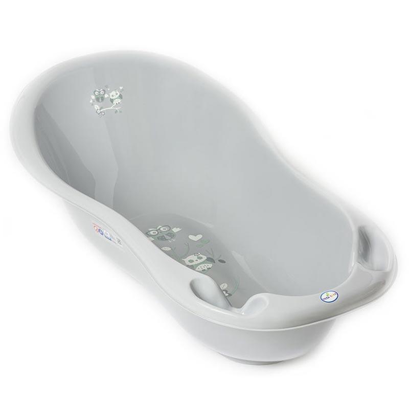 """Детская ванночка 86см Tega """"SOWY"""" со сливом,серая"""