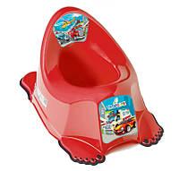 Горшок антискользящий Tega Baby  Cars CS-001 красный