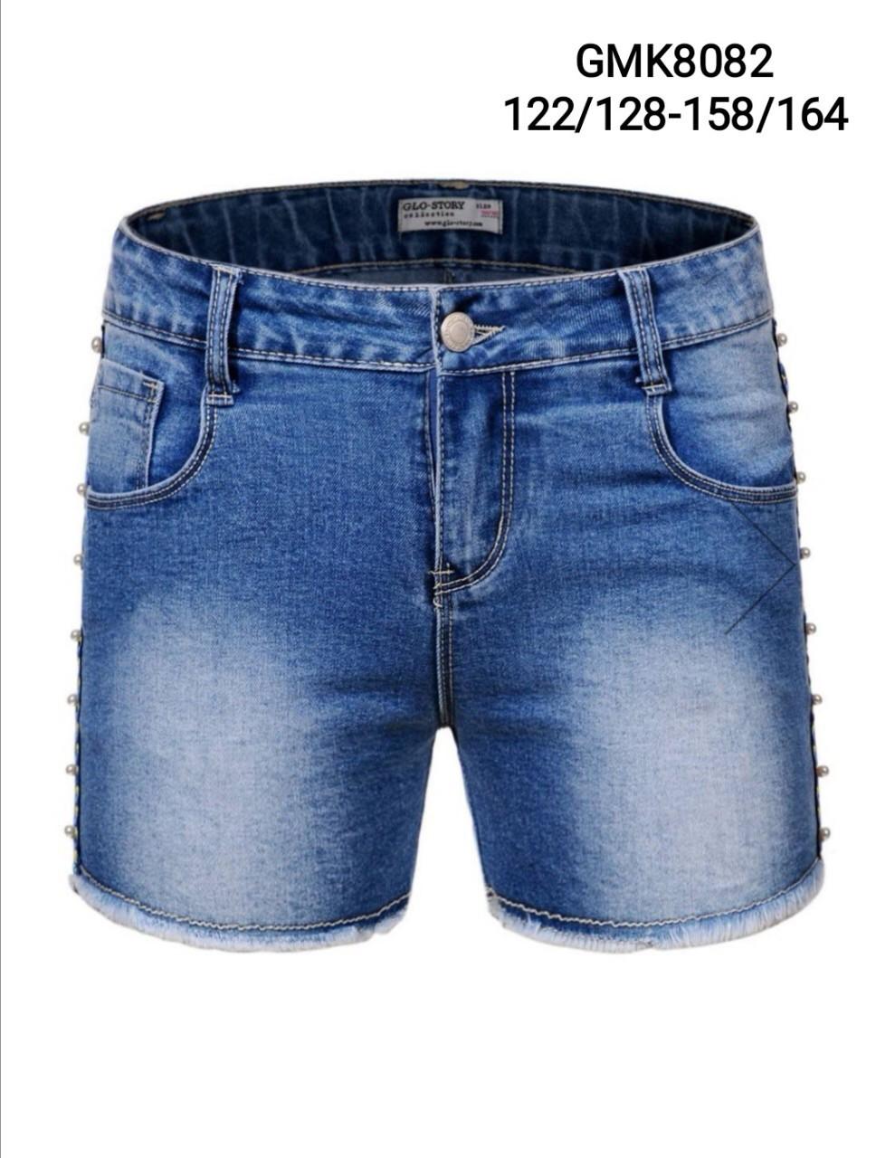 {есть:122/128} Джинсовые шорты для девочек Glo-Story , 122/128-158/164 рр.