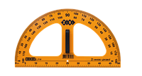 Транспортир 180°/50 см ZiBi TEACHER, желтый (ZB.5659)