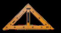 Угольник 45°х90°х45°/50 см ZiBi TEACHER, желтый (ZB.5639)