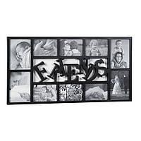 Фоторамка або рамка для фото, купити мультірамку колаж з фотографій на стіну Youngpig «Friends» 72.5x37x2 см чорна (217)
