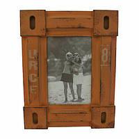Фоторамка або рамка для фото, купити фоторамку на стіну дерев'яна Youngpig «Вінтаж» 19х24х2 см гірчич.(186)