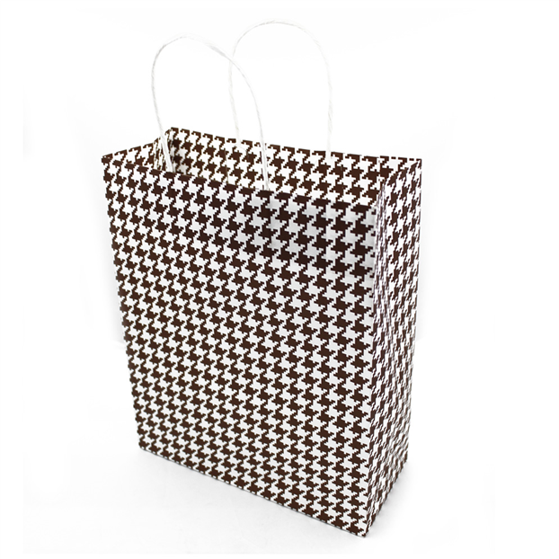 Подарунковий паперовий пакет, оригінальна упаковка для подарунка «Стиль» коричневый 4 цвета, Красный