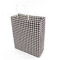 Подарунковий паперовий пакет, оригінальна упаковка для подарунка «Стиль» коричневый 4 цвета, Красный, фото 1