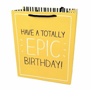 Подарунковий паперовий пакет, оригінальна упаковка для подарунка «Epic Birthday»