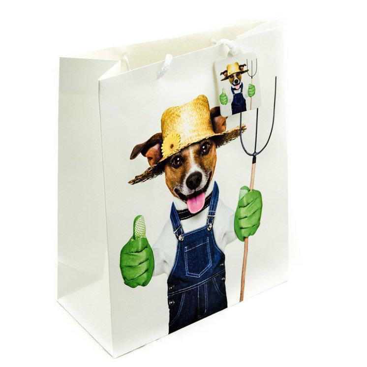 Подарунковий паперовий пакет, оригінальна упаковка для подарунка «Dogs» third