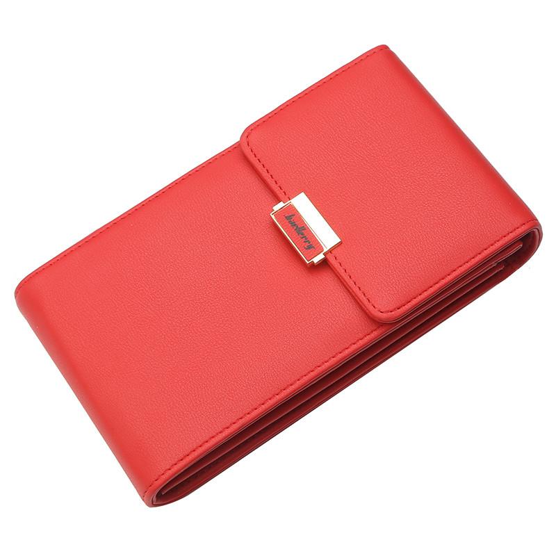 Женский кошелек Baellerry N5191 c ремешком через плечо красный