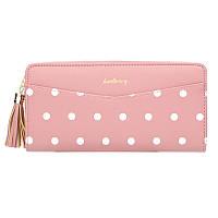 Кошелек, портмоне в горошек женский Baellerry N5520 розовый