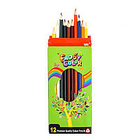 Набір олівців Faddy Color, кольорові, 12 шт / уп