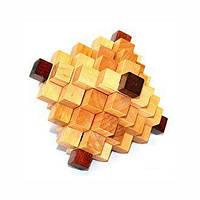 Головоломка з дерева, логічна іграшка «Ромб 3D»