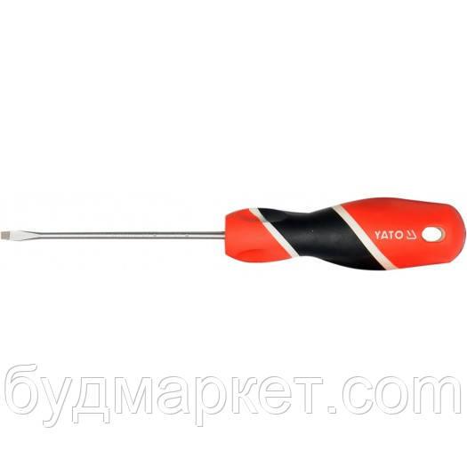 Отвертка YATO: плоский шлиц 6 мм, L = 100 мм YT-25911