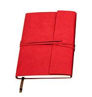 Оригінальний блокнот, купити планер або планувальник, щоденник на завязке Youngpig «ENVY» червоний (493)