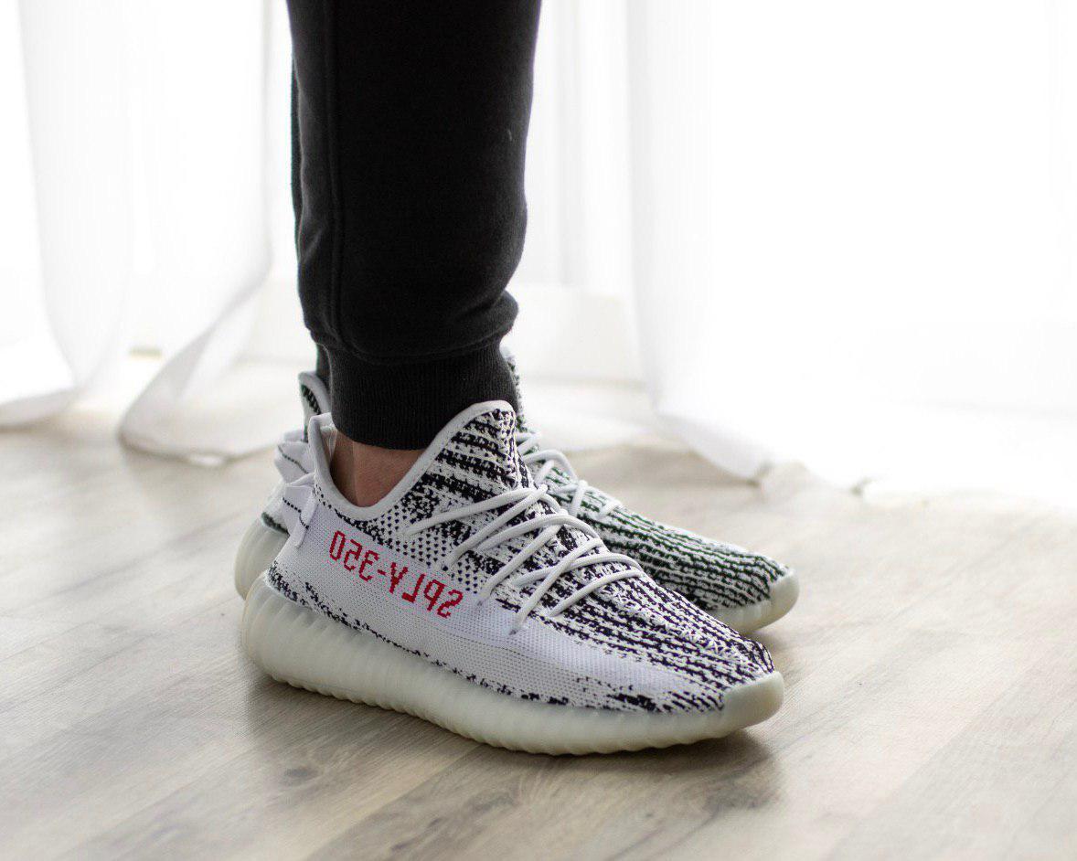 Мужские кроссовки в стиле Adidas Yeezy Boost 350 V2 Zebra (41, 42, 43, 44, 45 размеры)