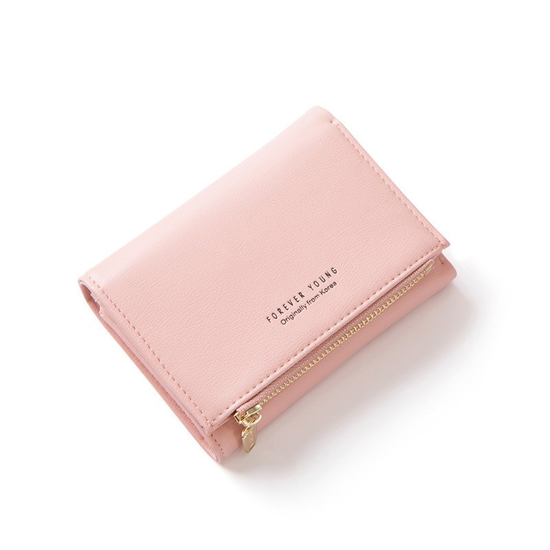 Женский Кошелек Бумажник Маленький на Кнопке для Карточек Weichen (LW-762) Розовый