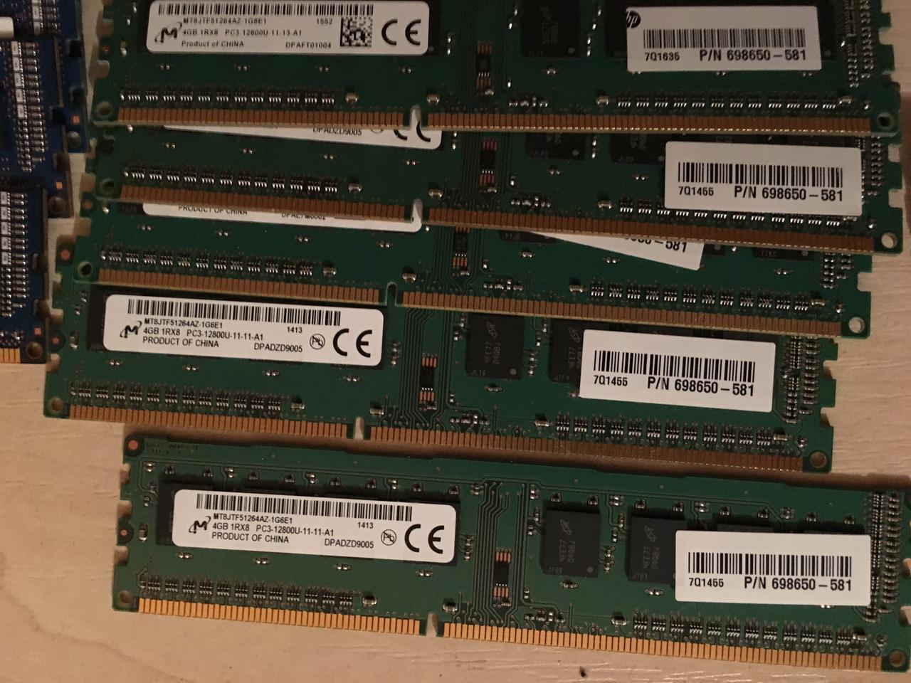 Оперативная память RAM ОЗУ 4Гб., DDR3 PC3L и PC3 Samsung Hynix Micron