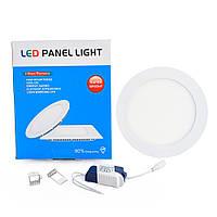 Світлодіодна панель Led або лед, купити енергозберігаючий діодний світильник, круглий 12W, 4000к, 174х174х20 мм, Нейтральный (4000K)