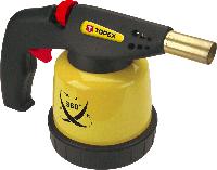 Лампа паяльная газовая, 44E143 Topex картриджи 190 г, пьезозажигание (с клапаном для работы в любом положении)