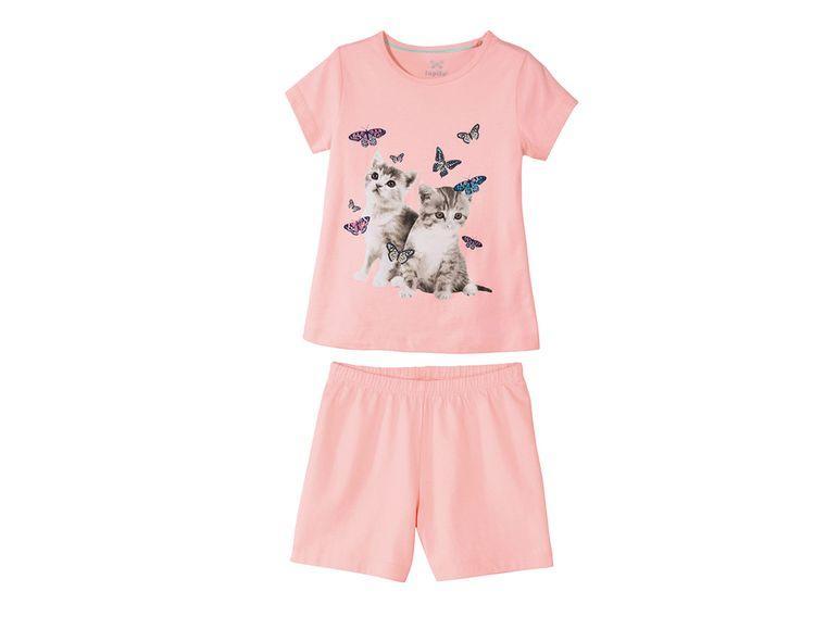 Пижама для девочки розовая Кошки Lupilu р.110/116