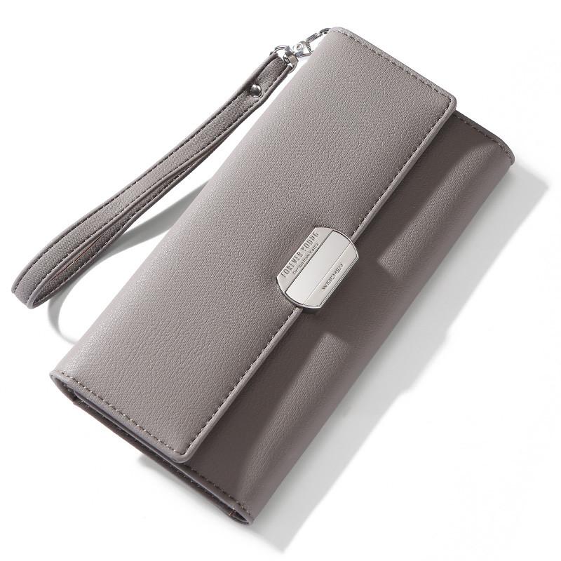 Женский кошелек портмоне Weichen LW-7513-B серый