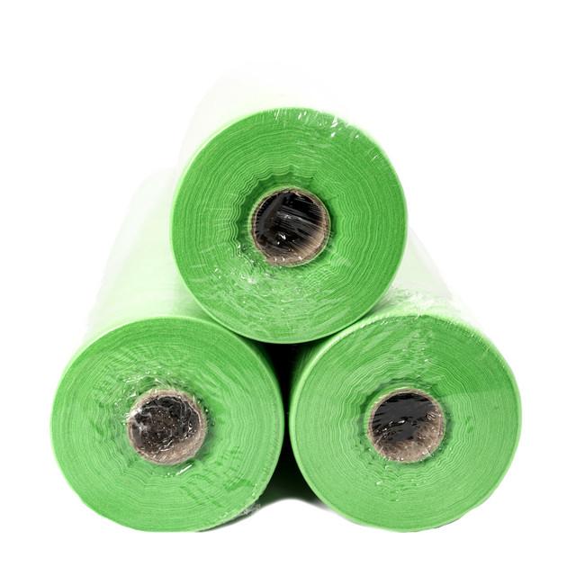простынь одноразовая в рулоне 100 м зеленая