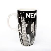 Оригінальна чашка, купити кружку для чаю та кави Youngpig «Ночной New York» (2166)