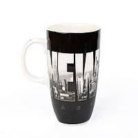 Оригінальна чашка, купити кружку для чаю та кави Youngpig «New York» чорна (2168)