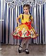 Детское нарядное платье Маки желтый (30-34), фото 2
