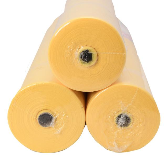 простынь одноразовая в рулоне 100 м желтая