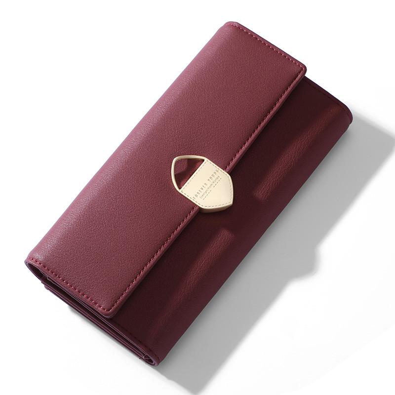 Женский кошелек портмоне Weichen LW-8516 бордовый