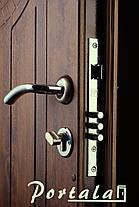 Наружные входные двери Форт 5 стекло, ковка, винорит на улицу, фото 3