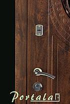 Наружные входные двери Форт 5 стекло, ковка, винорит на улицу, фото 2