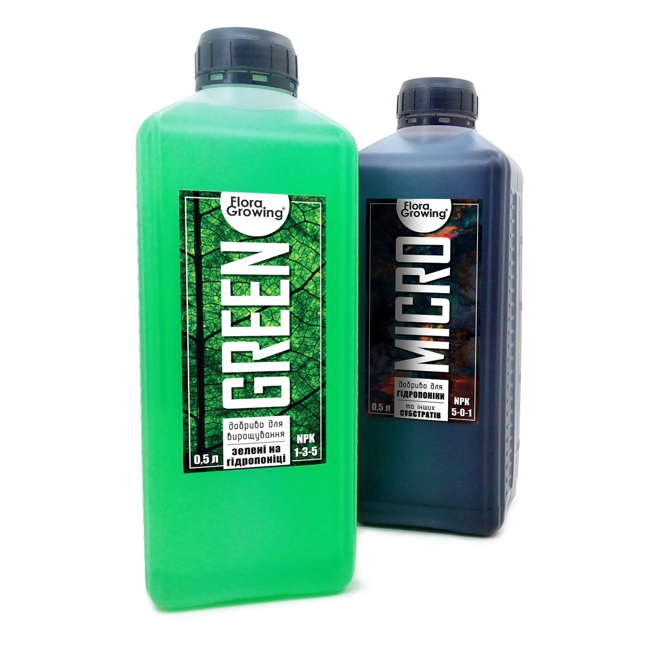 2 х 1 л Green Kit набор удобрений для гидропоники и почвы
