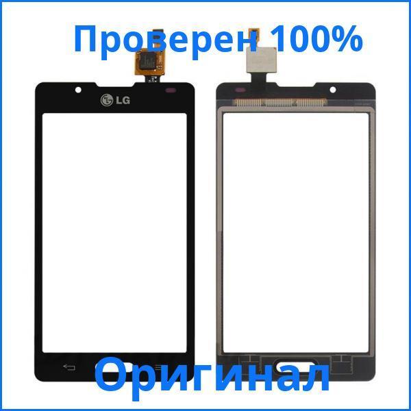 Оригинальный тачскрин LG P713 Optimus L7 II черный (сенсорный экран, стекло в сборе)