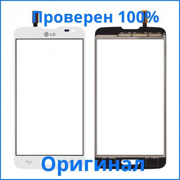 Оригинальный сенсорный экран LG D405 Optimus L90 белый (тачскрин, стекло в сборе), Оригінальний сенсорний екран LG D405 Optimus L90 білий (тачскрін,