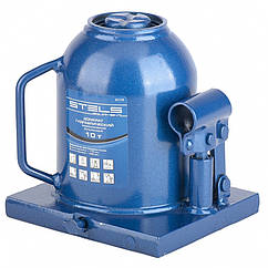Домкрат гидравлический бутылочный телескопический, 10 т, H подъема 170-430 мм. STELS