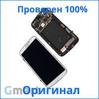 Оригинальный дисплей Samsung i9200 Galaxy Mega 6.3 белый (LCD экран, тачскрин, стекло, рамка в сборе)