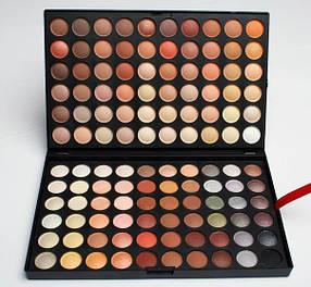 Палетка тіней для макіяжу 120 теплих матових кольорів №4 (репліка)
