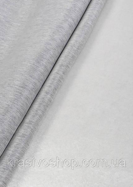 Ткань однотонный софт коттон белый+серый