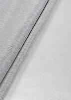 Ткань однотонный софт коттон белый+серый, фото 1