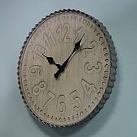 Красивые настенные часы (60 см. дерево, металл), фото 1
