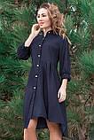 Стильное джинсовое весеннее платье 42-60р, фото 2