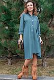 Стильное джинсовое весеннее платье 42-60р, фото 4