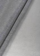 Ткань однотонный софт коттон белый+графит, фото 1