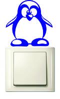 """Наклейки на розетки и выключатели """"Веселый Пингвинчик"""""""