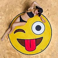 Пляжный коврик Смайлик (подстилка, парео 150 см)