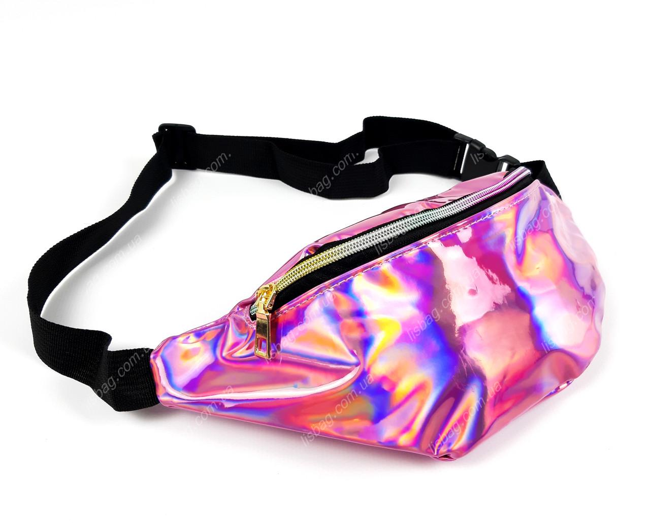 9d7f85ee8a2e Женская поясная сумка голографическая Розового цвета: продажа, цена ...