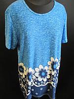 Женская удобная футболка с цветами, фото 1