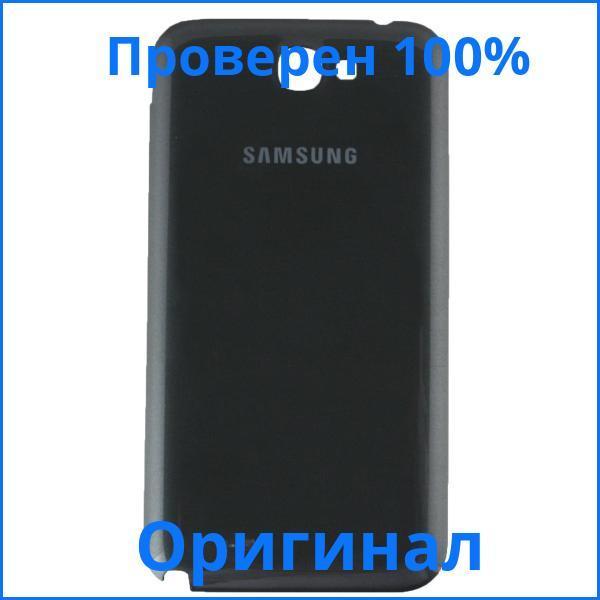 Оригинальная задняя крышка корпуса Samsung N7100 Galaxy Note 2 черная, Оригінальна задня кришка корпусу Samsung N7100 Galaxy Note 2 чорна